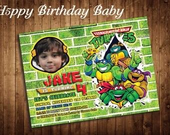 Digital File Only *** Customizable Ninja Turtle Birthday Invite!!!