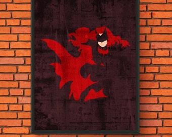 Minimalism Art - Batwoman Print