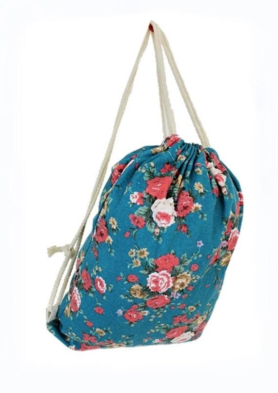 Vintage floral backpacks