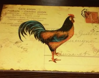 Rooster Metal Sign Rustic Country Cottage Farmhouse Décor