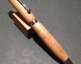 Handmade Spanish Cedar Wood Slimline Twist Ballpoint Pen by Artist WFR49