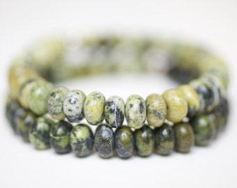 Stacking stretch bracelets, 2 beaded bracelets, serpentine bead bracelets, gemstone bracelets, charity donation