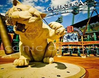 Detroit Photography - Comerica Park Tiger - Iconic Detroit Photo Print