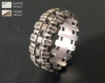 Tread ring - Mens man engagement ring.