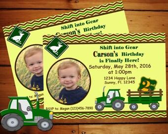 Shift into Gear Birthday Invitation ........Digital Download