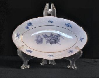 Schumann Bavaria Oval Relish Dish SCG1 Blue Floral 8.5-Inch