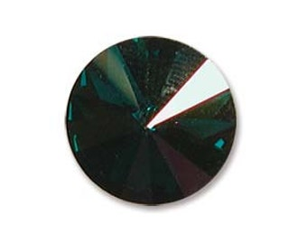 SWAROVSKI 1122 14mm Rivoli - Emerald Starlight