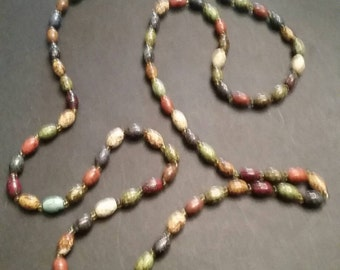 Vintage Multi-colored Stone Necklace Colorful Jewelry