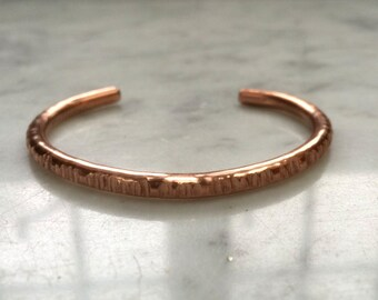 Textured copper bangle/cuff/bracelet