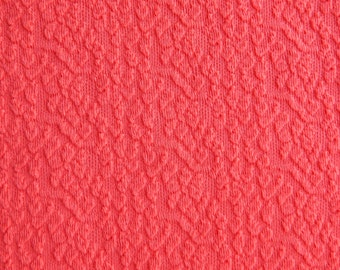 Vintage Unused Polyester Fabric Retro Bright Red Polyester Crimplene Fabric 160 cm or 1.74 yards