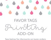 Favor Tag Printing Add-On