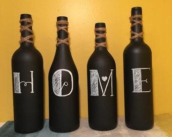HOME Chalkboard Wine Bottles