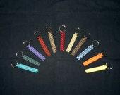 "Paracord key fob, military grade, handmade, about 5"" long, many colors, key chain, key ring, keys"
