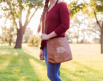 Monogrammed Crossbody Bag  | Faux Leather Crossbody | Ladies Crossbody | Monogram Purse | Crossbody Purse | Everyday Bag | Memphis