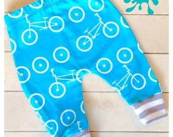 baby leggings, Baby clothes, bike leggings, bicycles, organic baby clothes, boy leggings, girl leggings, baby pants, baby gift, newborn