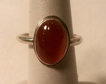 Frankish Ring with a Orange Gem