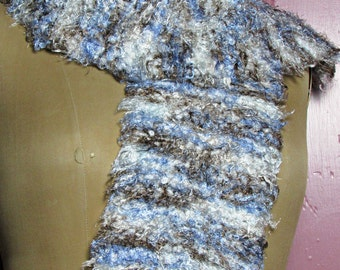 Chunky Handknit Retro/Vintage Winter Scarf #7