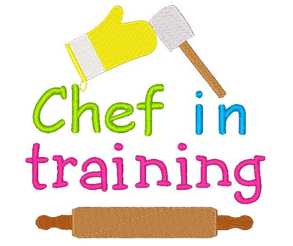 Chef In Training Machine Embroidery Design By EmbroidDesigns