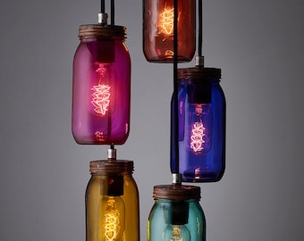 Jam Jar Pendant light.