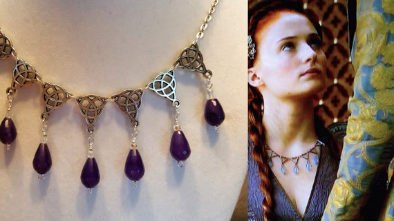 Game Of Thrones Sansa Stark Purple Amethyst Wedding Silver