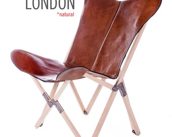 100% Handcrafted Original Tripolina-Butterfly Chair with Natural (Haya) Wooden Frame from Argentina (Big BKF)