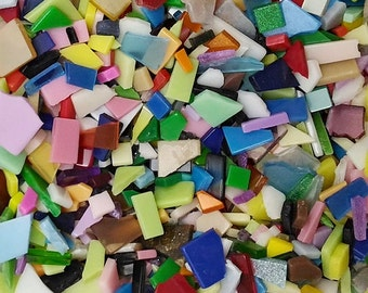 Resin mosaic tiles - mixed colors pre-cut mixed sizes