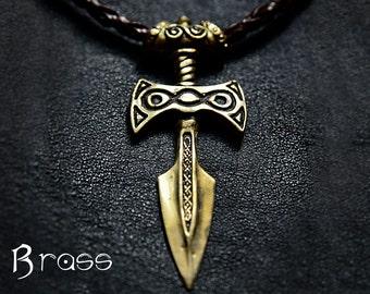 Brass Amulet of Talos Handmade Elder Scrolls Inspired Skyrim Pendant - Item Novelty Fashion Wear Jewelry Pendant