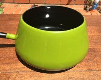 Vintage Green Fondue Pot
