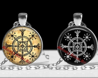 Hulinhjálmur pendant, Hulinhjálmur necklace, icelandic stave, viking amulet, icelandic jewelry, pagan necklace, magic, nordic necklace #236