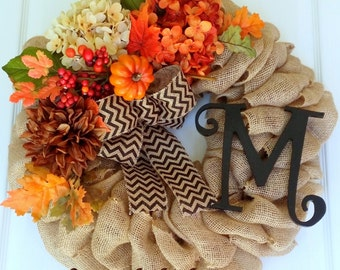 Fall wreath, Burlap Wreath, Fall door wreath, Front Door wreath, Harvest wreath, Holiday wreath, Autumn wreath, Thanksgiving wreath, wreath