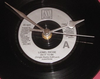 "Lionel Richie do it to me  7"" vinyl record clock"