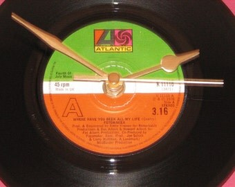 """Fotomaker where have you been all my life   7"""" vinyl record clock"""