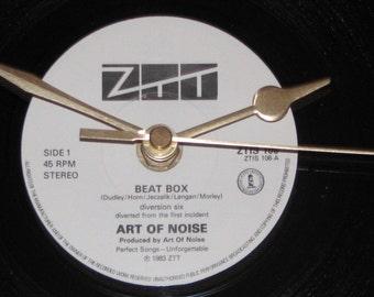 "Art of Noise beat box  7"" vinyl record clock"