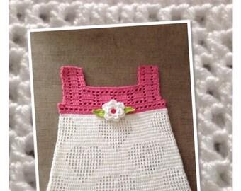Love heart crochet dress