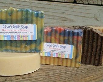 12 Month- Soap Of The Month, Goat Milk Soap Subscription Box, Monthly Subscription, FREE Shipping!