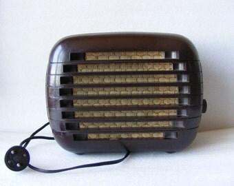 Vintage Old 1950 Bulgarian Bakelite Radio Point Speaker