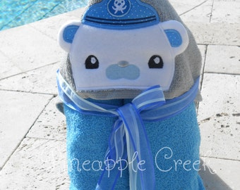 Captain Barnacle Hooded Towel FREE MONOGRAM