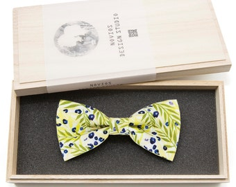 Summer Love Bowtie - birthday gift, Toddler Bowtie Toddler Bow tie, Groomsmen bow tie, Pre Tied and AdjustableNovioshk, H0226