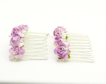 Lilac Hair Comb