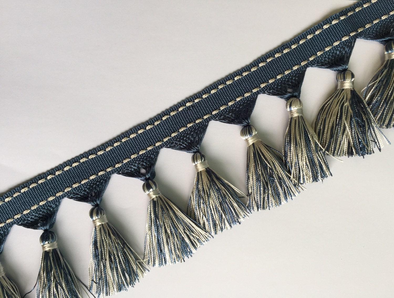 Blue And White Tassel Fringe