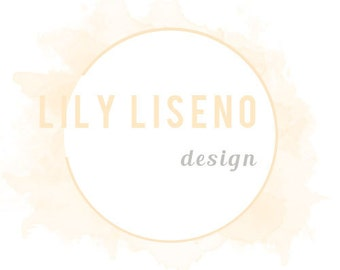 Watercolor circle minimal logo design