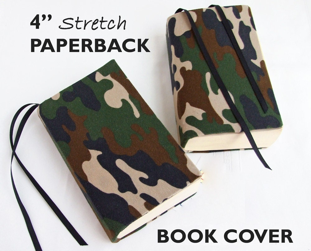 Fabric Book Covers Jumbo : Stretch paperback book cover camouflage fabric