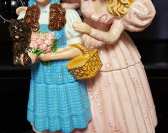 Glenda The Good Witch And Dorothy Of The Wizard Of Oz Cookie Jar 1999