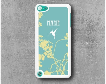 Case iPod Touch 5 with Asia Hummingbird Custom Name (Camille, Mathilde, Laura ...)
