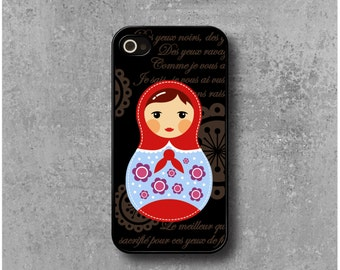iPhone 4 / 4s Case Russian dolls Matryoshka Red