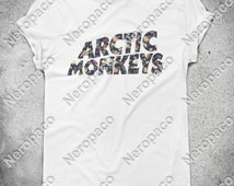Arctic Monkeys Floral Rock Alternative Music Band T-Shirt  - 000003