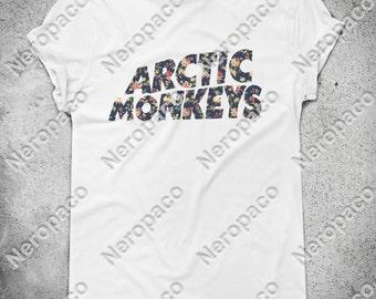 Arctic Monkeys Floral Rock Alternative Music Band T-Shirt  - 000003