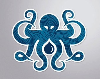 Inktopus Stickers - Nautical Octopus