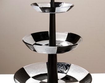 Black & white riser
