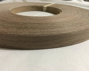 "Walnut pre glued ( 5/8"" TO 3""X50' ) Wood Veneer edge banding"